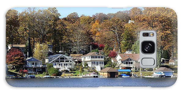 Lake Hopatcong Scene 3 Galaxy Case by Maureen E Ritter