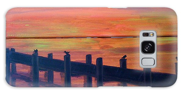 Lake Illawarra At Sunset Galaxy Case by Judi Goodwin