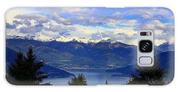 Lake Of Como View Galaxy Case