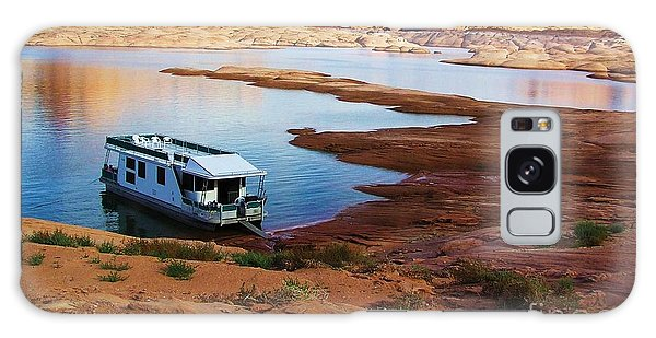 Lake Powell Houseboat Galaxy Case by Michele Penner