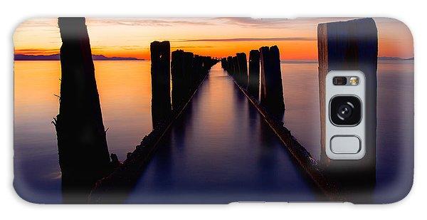 Fence Post Galaxy Case - Lake Reflection by Chad Dutson