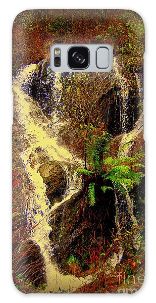 Lake Shasta Waterfall 3 Galaxy Case
