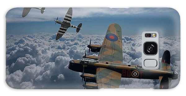 Lancaster Bomber And Spitfires Galaxy Case by Ken Brannen