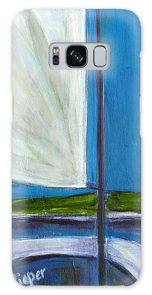 Land Ho With Sail And Sea And Sky Galaxy Case by Betty Pieper
