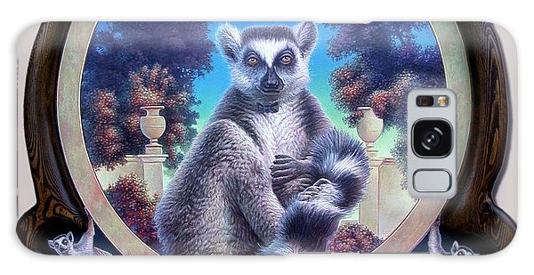 Zoofari Poster The Lemur Galaxy Case