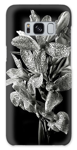 Leopard Lily In Black And White Galaxy Case