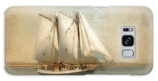 Liberty Clipper On Boston Harbor Galaxy Case by Karen Lynch