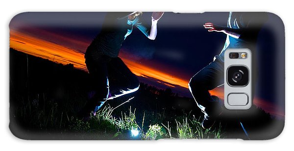 Light Dancers 1 Galaxy Case by JM Photography