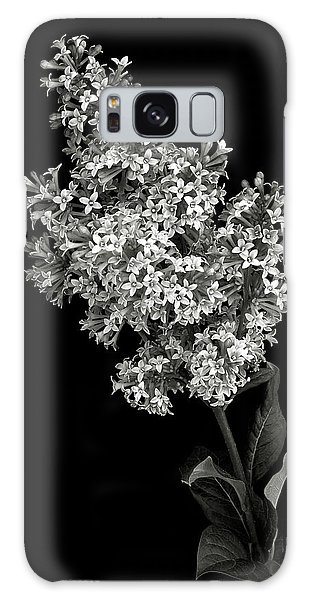 Lilac In Black And White Galaxy Case