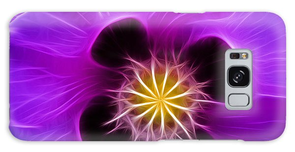 Lilac Poppy Galaxy Case