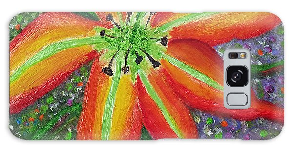 Lily In My Garden Galaxy Case by Margaret Harmon