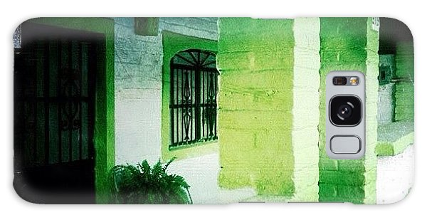 Colorful Galaxy Case - Lime Green & White House (puerto by Natasha Marco