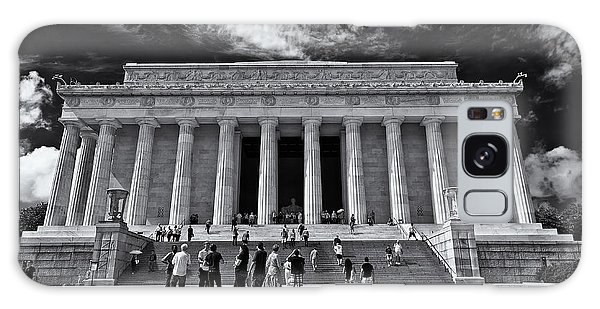 Lincoln Memorial In Black And White Galaxy Case