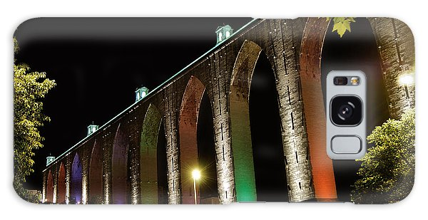 Lisbon Historic Aqueduct By Night Galaxy Case