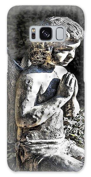 Little Angel Statue Galaxy Case by Danuta Bennett