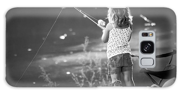 Little Fishing Girl Galaxy Case