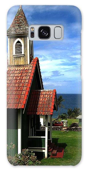 Little Green Church In Hawaii Galaxy Case