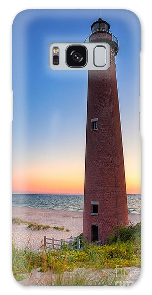 Little Sable Point Light Station Galaxy Case by Larry Carr