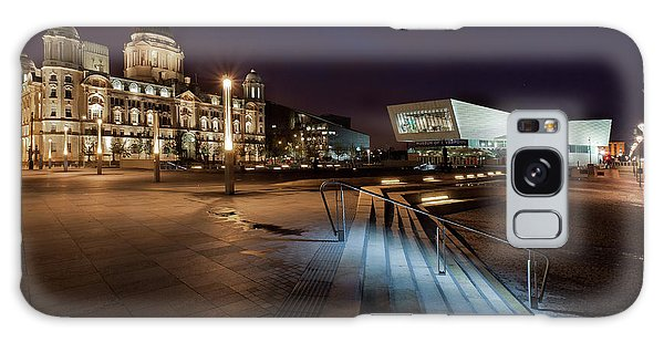 Liverpool - The Old And The New  Galaxy Case by Beverly Cash