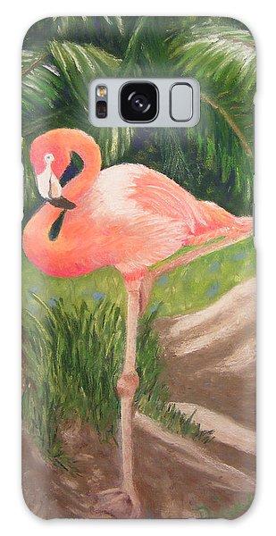 Lone Flamingo Galaxy Case