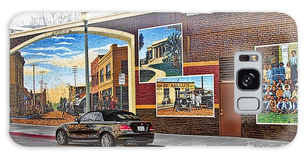 Old Town Santa Paula Mural Galaxy Case