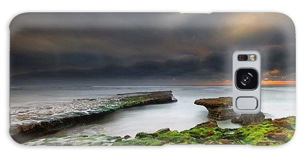 Galaxy Case - Long Exposure Of A Stormy Sunset At A by Larry Marshall