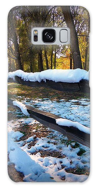 Long Snow Fence Galaxy Case by Michelle Frizzell-Thompson