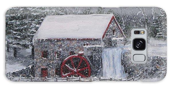 Longfellow's Grist Mill In Winter Galaxy Case