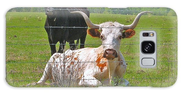 Longhorn Resting Galaxy Case by Val Miller