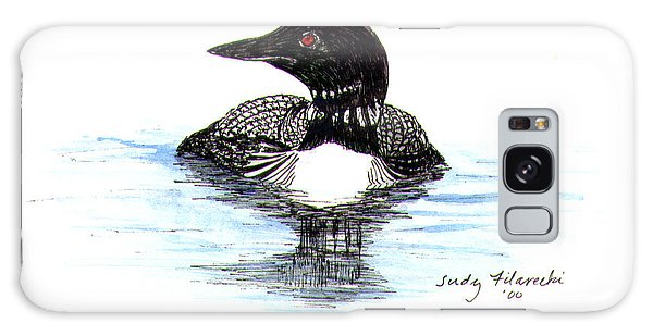 Loon Swim Judy Filarecki Watercolor Galaxy Case by Judy Filarecki
