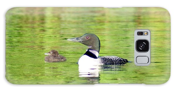 Loons Big And Small Galaxy Case by Steven Clipperton