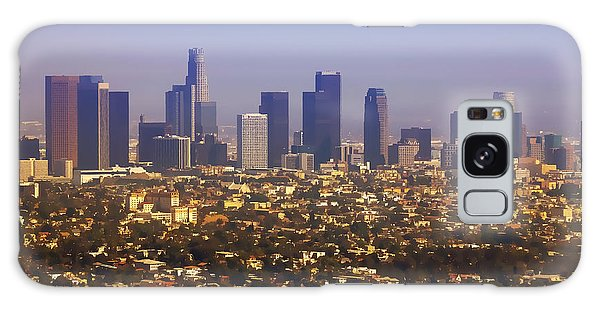 American Steel Galaxy Case - Los Angeles From Above Cartoony by Ricky Barnard