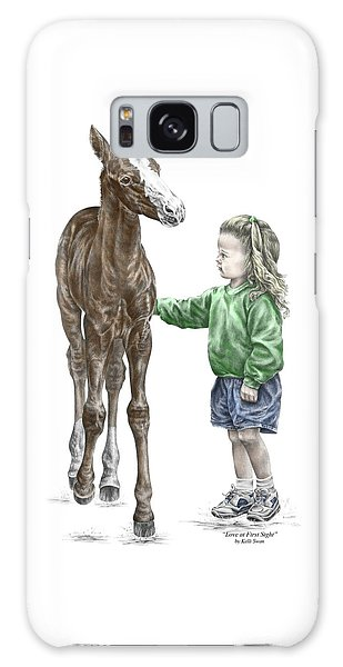 Love At First Sight - Girl And Horse Print Color Tinted Galaxy Case