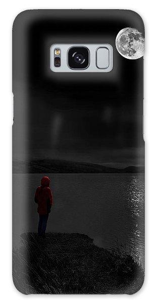 Lunatic In Red Galaxy Case by Meirion Matthias