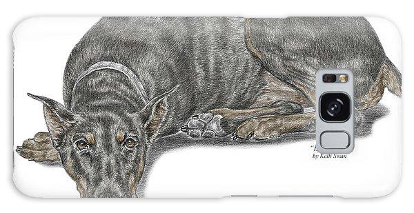 Lying Low - Doberman Pinscher Dog Print Color Tinted Galaxy Case
