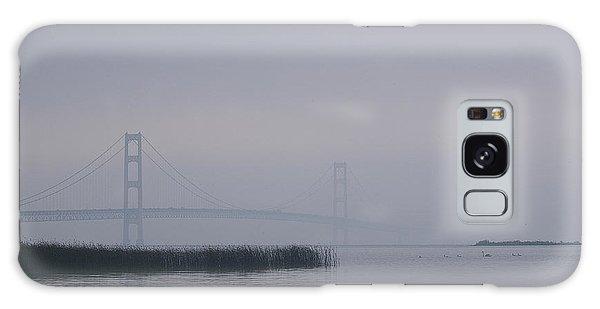 Mackinac Bridge And Swans Galaxy Case by Randy Pollard