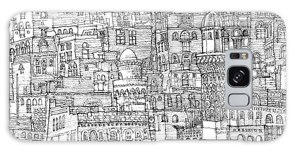 Stone Galaxy Case - Magical Architecture Of Yemen In Ink  by Adendorff Design