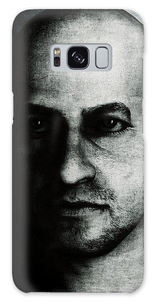 Male Portrait - Black And White Galaxy Case