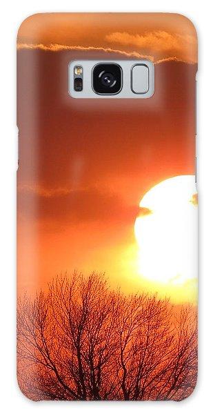 Mango Sunset Kansas Tree Silhouette Galaxy Case