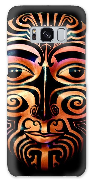 Galaxy Case featuring the sculpture Maori Mask by Michelle Dallocchio