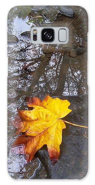 Maple Leaf Reflection 1 Galaxy Case by Peter Mooyman