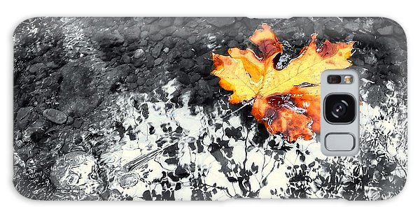 Maple Leaf Selective Color Galaxy Case by Peter Mooyman