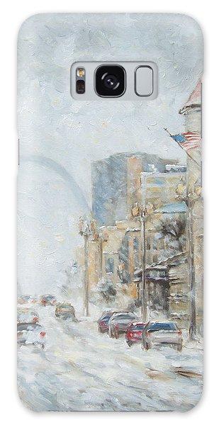 Market Street In Winter In St.louis Galaxy Case