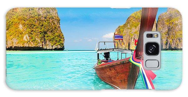 Phi Phi Island Galaxy Case - Maya Bay by MotHaiBaPhoto Prints