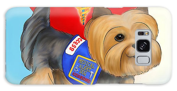 Medical Alert Yorkie Galaxy Case