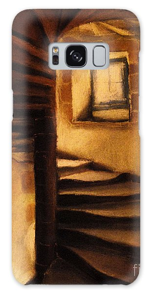 Wall Paper Galaxy Case - Medieval Tower by Mona Edulesco