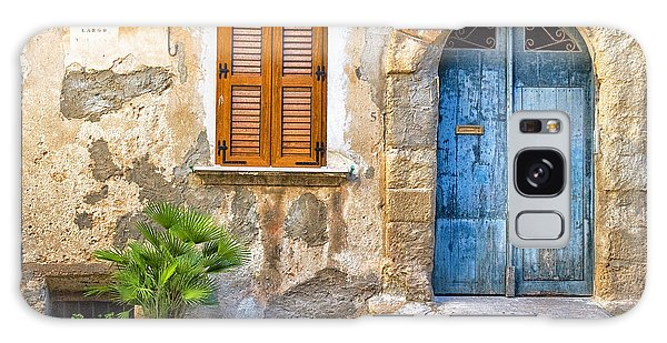 Mediterranean Door Window And Vase Galaxy Case