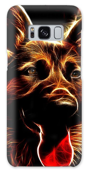 Mens Best Friend - German Shepherd Portrait Galaxy Case