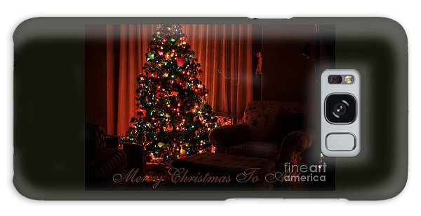 Merry Christmas To All Christmas Card Galaxy Case