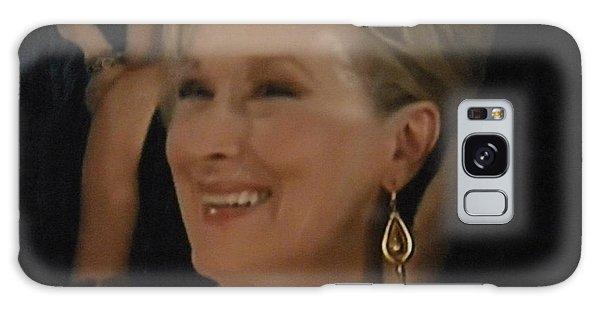 Meryl Streep Portrait  Galaxy Case